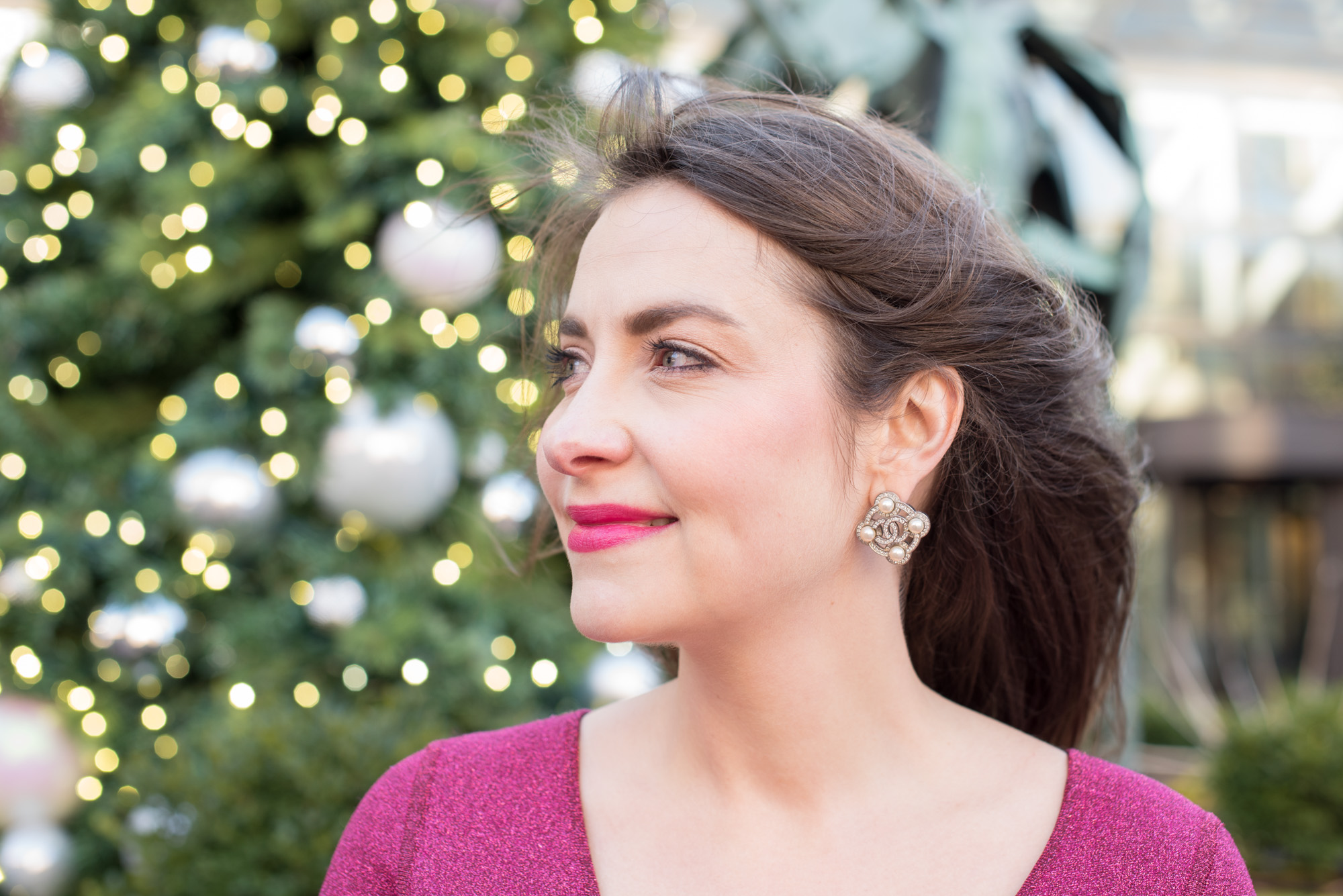 chanel rhinestone earrings, the-alyst.com