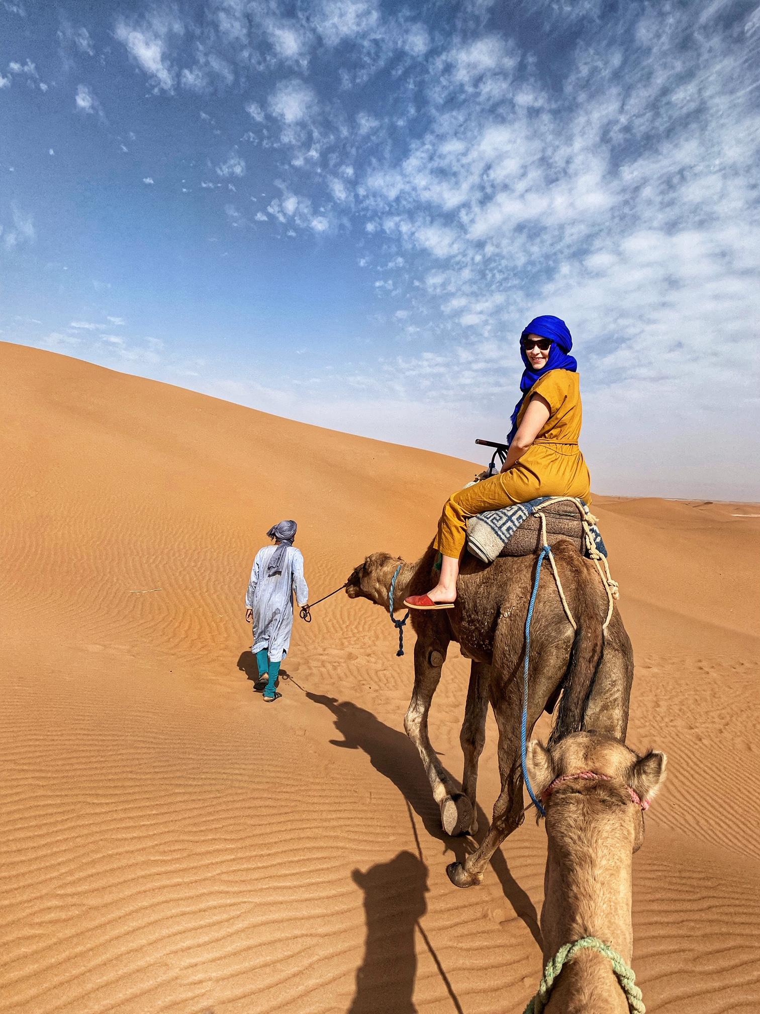 Erg Chigaga Desert Luxury Camp, camel ride, morocco, the-alyst.com